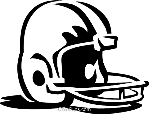 football helmet Royalty Free Vector Clip Art illustration vc060291