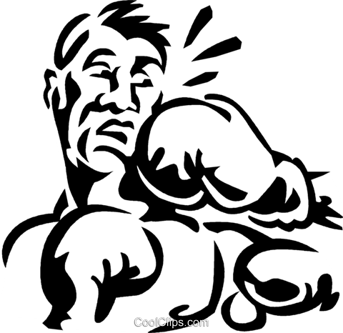 boxer Royalty Free Vector Clip Art illustration vc060294