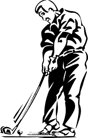 golfers Royalty Free Vector Clip Art illustration vc060299
