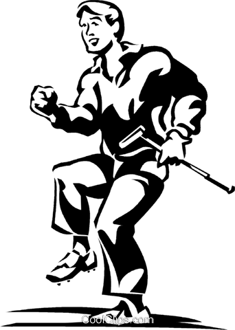 golfer Royalty Free Vector Clip Art illustration vc060300