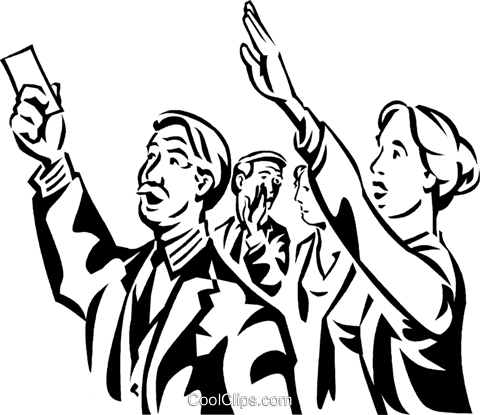 people at the stock market Royalty Free Vector Clip Art illustration vc060316