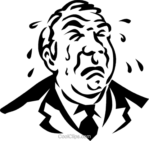 businessman crying Royalty Free Vector Clip Art illustration vc060320