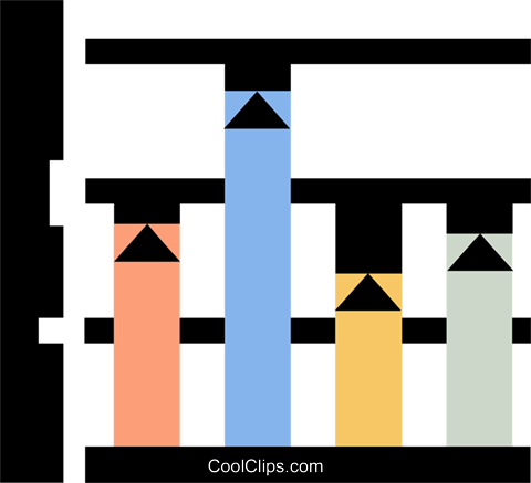 graphs Royalty Free Vector Clip Art illustration vc060345