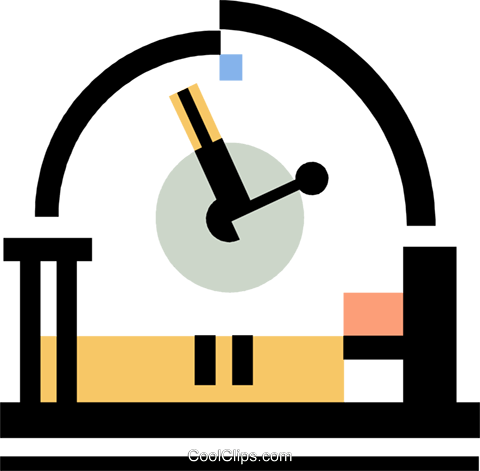 clock Royalty Free Vector Clip Art illustration vc060348