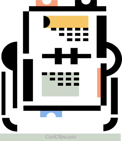 rolodex Royalty Free Vector Clip Art illustration vc060349