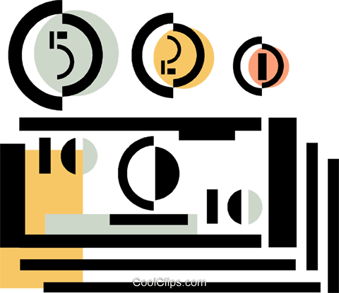 dollars Royalty Free Vector Clip Art illustration vc060353