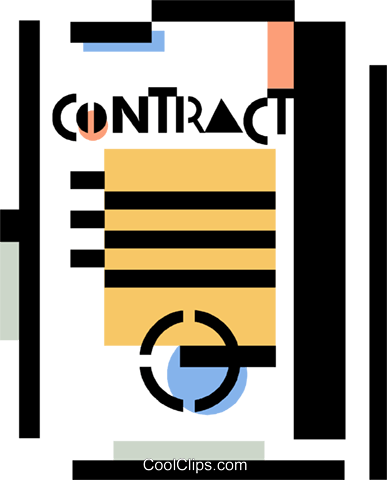 contract Royalty Free Vector Clip Art illustration vc060358