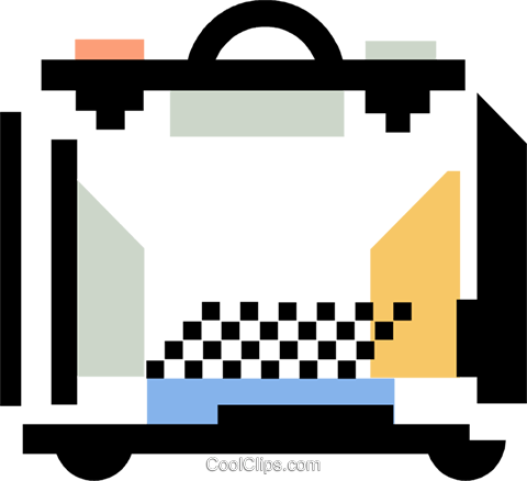 briefcase Royalty Free Vector Clip Art illustration vc060364
