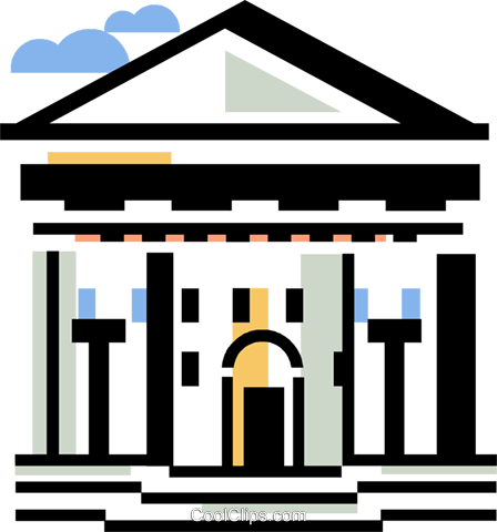 financial institution Royalty Free Vector Clip Art illustration vc060379