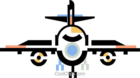 commercial airplane Royalty Free Vector Clip Art illustration vc060394