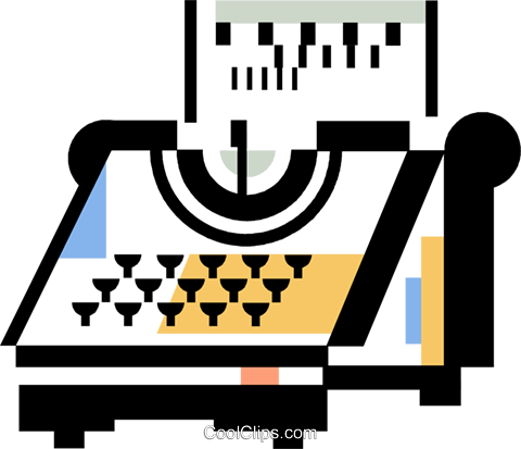 typewriter Royalty Free Vector Clip Art illustration vc060402