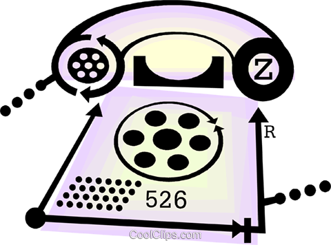 telephone Royalty Free Vector Clip Art illustration vc060426