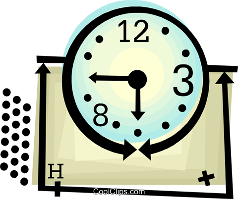 clock Royalty Free Vector Clip Art illustration vc060440