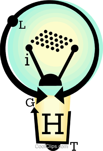 light bulb Royalty Free Vector Clip Art illustration vc060444