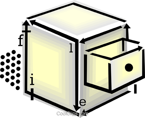 filing cabinet Royalty Free Vector Clip Art illustration vc060445