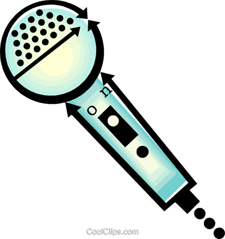 microphone Royalty Free Vector Clip Art illustration vc060450