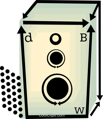 stereo speakers Royalty Free Vector Clip Art illustration vc060451