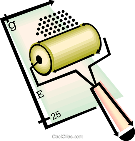 paint roller Royalty Free Vector Clip Art illustration vc060465