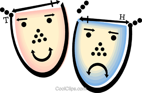 theatre masks Royalty Free Vector Clip Art illustration vc060467