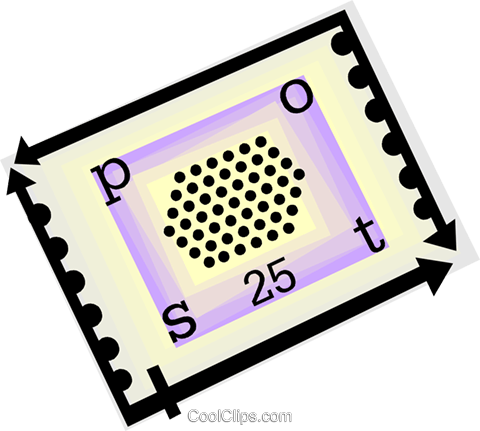 postage stamp Royalty Free Vector Clip Art illustration vc060470