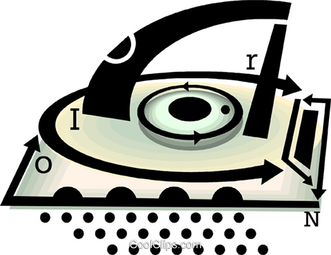 electric iron Royalty Free Vector Clip Art illustration vc060477