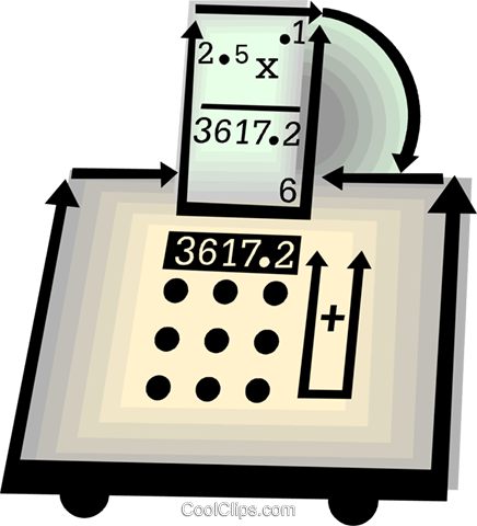 calculator Royalty Free Vector Clip Art illustration vc060478