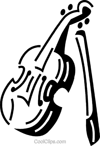 violin Royalty Free Vector Clip Art illustration vc060489