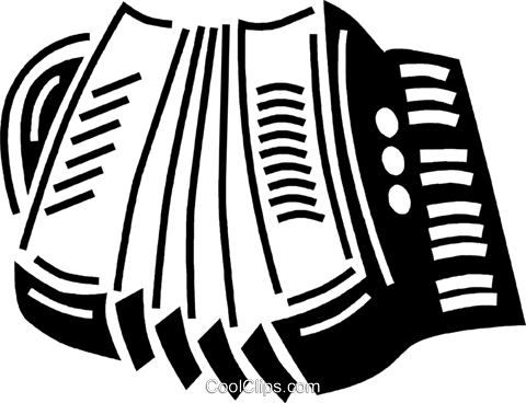 accordion Royalty Free Vector Clip Art illustration vc060497