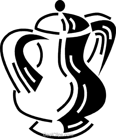 coffee pots Royalty Free Vector Clip Art illustration vc060522