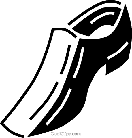 dress shoe Royalty Free Vector Clip Art illustration vc060528