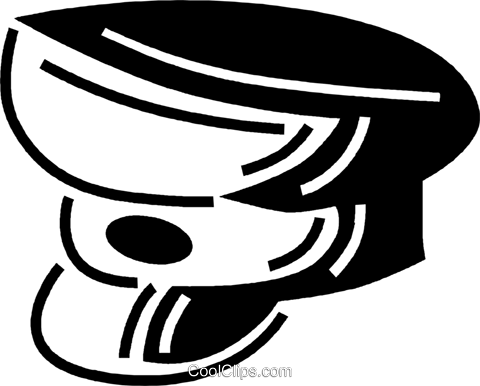 hat Royalty Free Vector Clip Art illustration vc060538