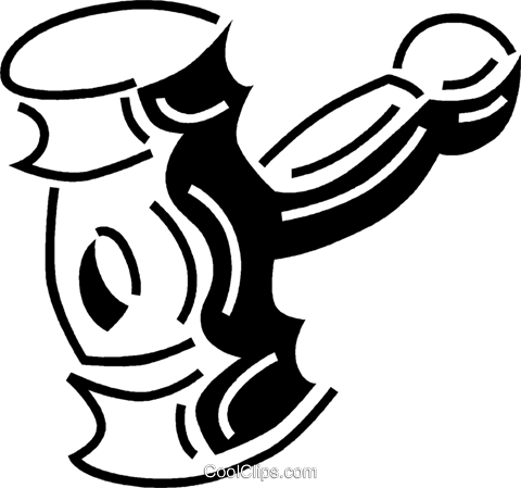 judge's gavel Royalty Free Vector Clip Art illustration vc060539