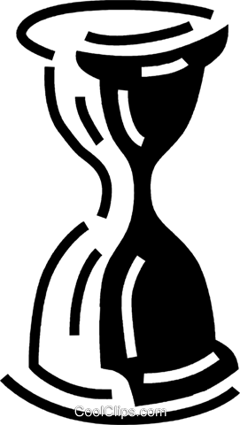 hourglass Royalty Free Vector Clip Art illustration vc060560