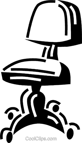 office chair Royalty Free Vector Clip Art illustration vc060574