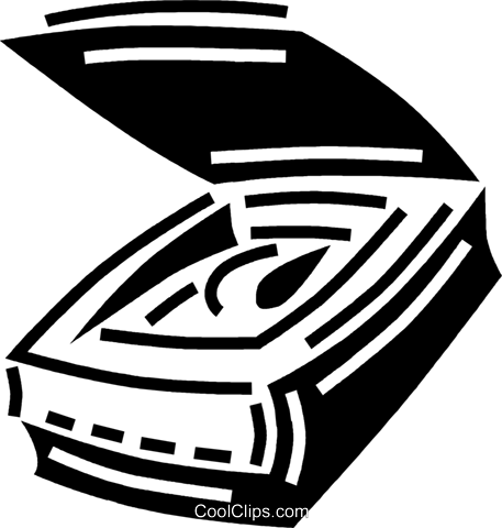 flatbed scanner Royalty Free Vector Clip Art illustration vc060578