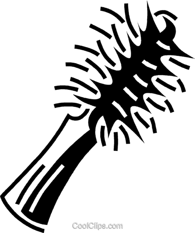 hair brush Royalty Free Vector Clip Art illustration vc060601