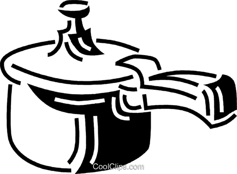 cooking pot Royalty Free Vector Clip Art illustration vc060653