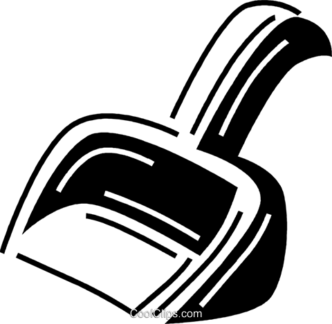 dustpan Royalty Free Vector Clip Art illustration vc060674