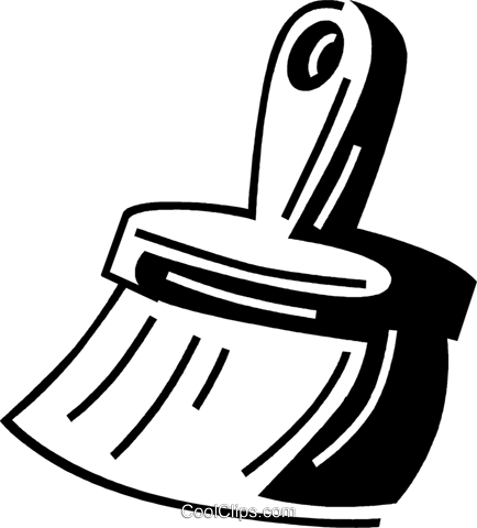 hand broom Royalty Free Vector Clip Art illustration vc060675