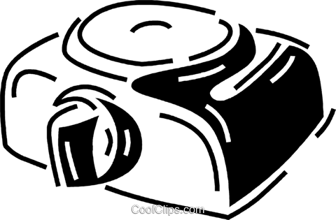 slide projector Royalty Free Vector Clip Art illustration vc060678