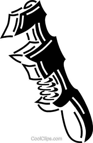 pipe wrench Royalty Free Vector Clip Art illustration vc060684