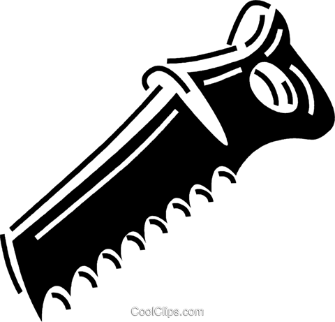 handsaw Royalty Free Vector Clip Art illustration vc060691