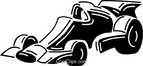 race car Royalty Free Vector Clip Art illustration vc060705