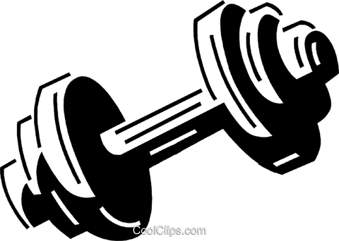 dumbbell Royalty Free Vector Clip Art illustration vc060710