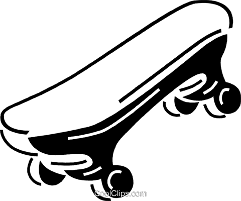 skateboard Royalty Free Vector Clip Art illustration vc060712