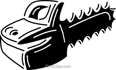 chainsaw Royalty Free Vector Clip Art illustration vc060714