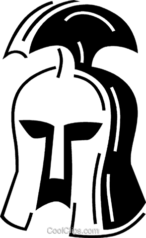 gladiator helmet Royalty Free Vector Clip Art illustration vc060722