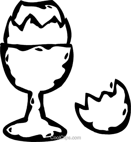hard boiled egg Royalty Free Vector Clip Art illustration vc060751