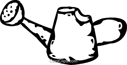 watering can Royalty Free Vector Clip Art illustration vc060754
