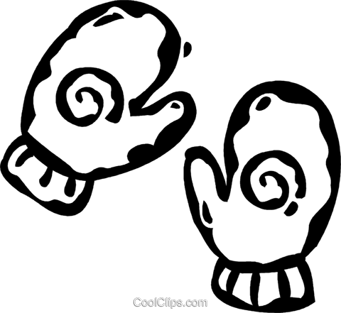 winter mitts Royalty Free Vector Clip Art illustration vc060849